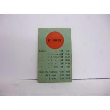 Estrela Banco Imobiliário carta Av. Brasil 1950/1960