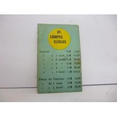 Estrela Banco Imobiliário carta Av. Campos Elíseos 1950/1960