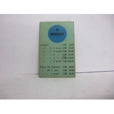 Estrela Banco Imobiliário carta Av. Rebouças 1950/1960