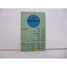 Estrela Banco Imobiliário carta Celso  Garcia 1950/1960