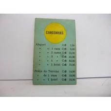 Estrela Banco Imobiliário carta Congonhas 1950/1960