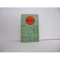 Estrela Banco Imobiliário carta Copacabana 1950/1960