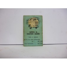 Estrela Banco Imobiliário carta Empresa e Transporte Coletivo 1950/1960